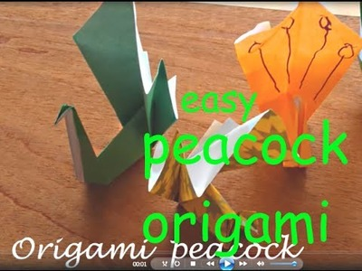 Origami peacock EASY