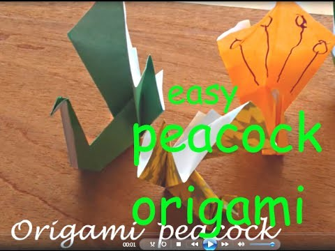 Origami peacock EASY