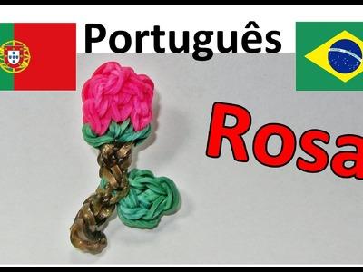 Pulseiras de Elastico Rosa: Como fazer Pulseiras com Elásticos. Rainbow Loom Bands. Charms
