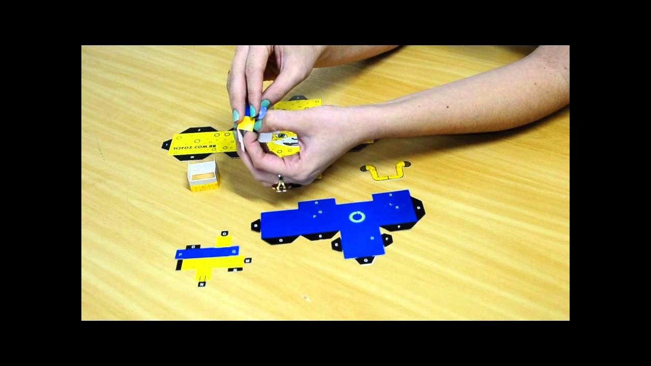 Tutorial - Montando o Paper Toy do Guarê