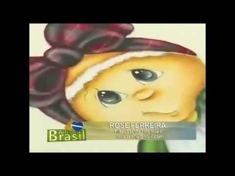 Arte Brasil - Rose Ferreira - Pintura em Pano de Copa Motivo Natal