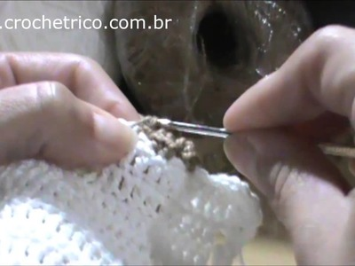 Crochê - Babador Ursinho - Parte 03.05
