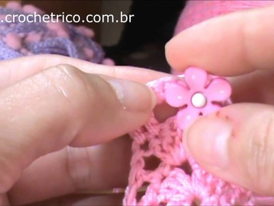 Crochê - Colete Princesa (0 à 3 meses) - Parte 03.04
