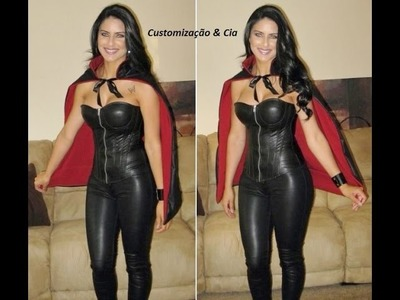 DIY Capa de Vampiro para Halloween (Vampire Cape) by Customização & Cia