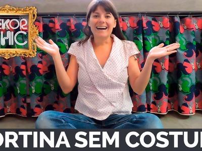 DIY :: Faça vc mesmo a cortina da sua casa - Decorando a cozinha - Pré.DekorChic