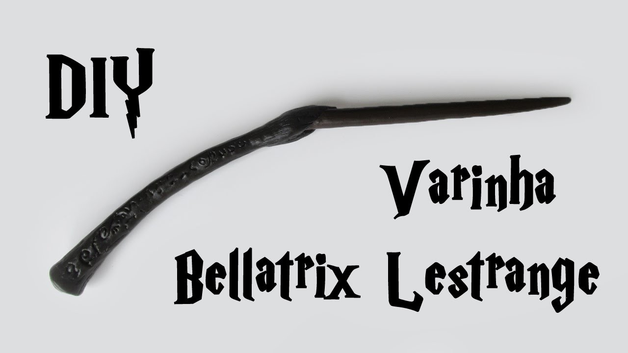 DIY: Varinha Bellatrix  Lestrange (Harry Potter Wands Tutorial)