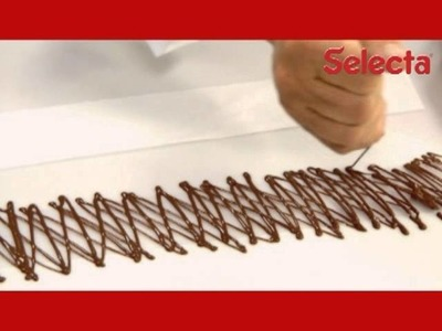 É fácil fazer grades de chocolate
