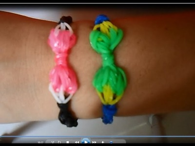 ♥ Pulseira com elástico de Laço com Agulha Rainbow Loom   (sem tear) ♥ loombands
