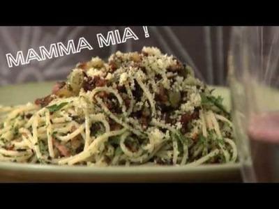 Receita de Espaguete crocante com bacon | Recepedia