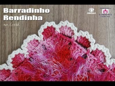 Barrado Rendinha em crochê - Professora Simone