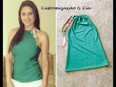 Blusa para o verão by Customização & Cia