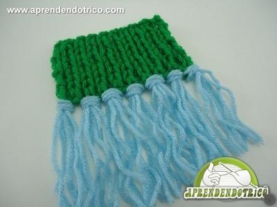 Como aplicar franjas nas peças de trico - Aprendendo Tricô Manual