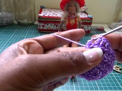 Como fazer chapéu para Barbie em Crochê
