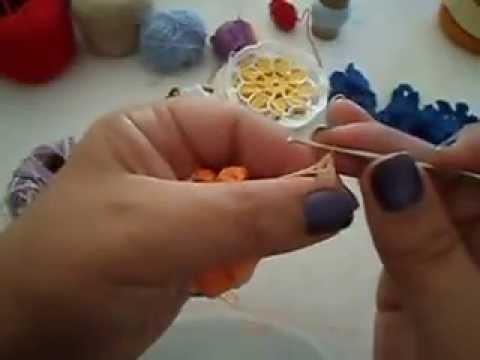 Como fazer uma flor em croché -parte 3