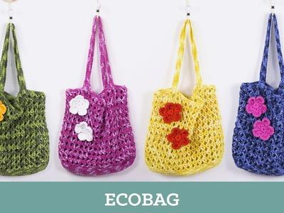 Criações em Crochê: Ecobag | Luciana Ponzo