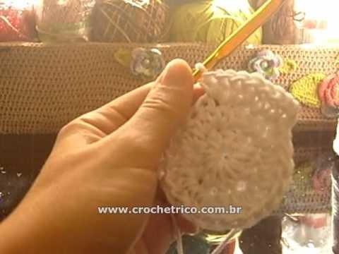Crochê - Almofada Flor - 03.04