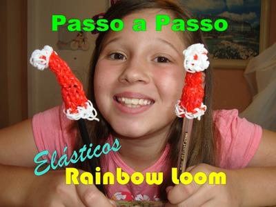 Tutorial: Touca de Natal para Lápis- Rainbow Loom (com tear)