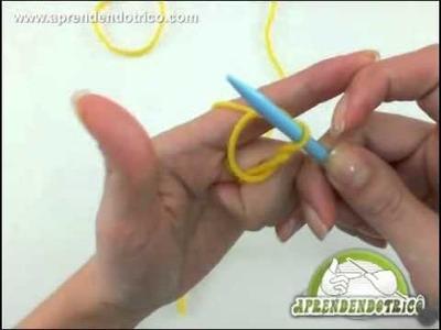 A laçada inicial no trico - Forma Técnica - Aprendendo Tricô Manual