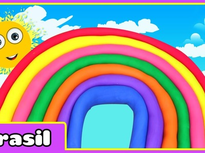 Arco íris de Massinha | Rainbow Play doh | Play doh Videos by HooplaKidz Brasil