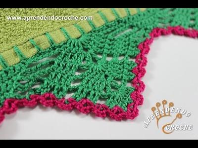 Barrado de Crochê Rositas - Aprendendo Croche