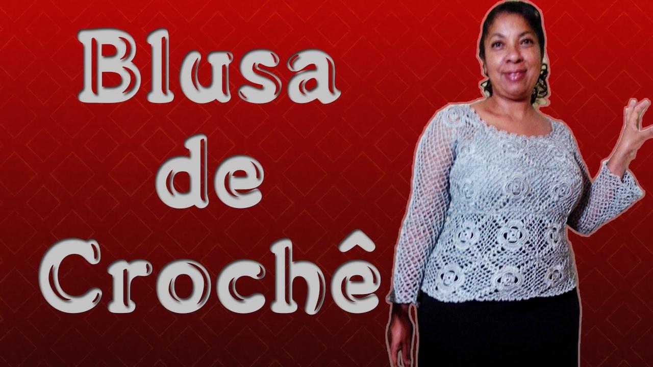 Blusa de Crochê - Marilda Artes