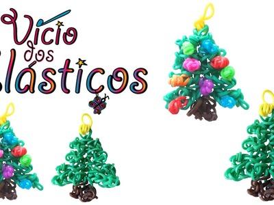 Como fazer Arvore Natal Grande de elasticos (sem Tear) - Rainbow Loom Natal