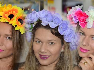 Como Fazer Coroa de Flores - Faça você mesma! (#fevereirotododia #4)
