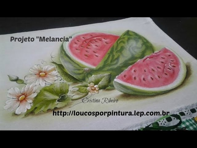 Como pintar melancia - How to paint watermelon