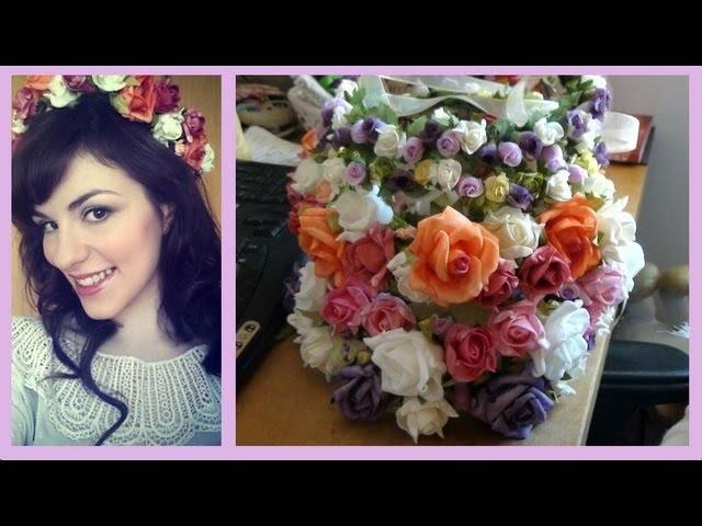 Coroas.Tiaras de Flores ♥ Faça Você Mesma! (Plus: cabelo rosa. ?)