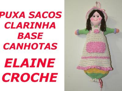 CROCHE PARA CANHOTOS - LEFT HANDED CROCHET - PUXA SACOS CLARINHA - BASE - CANHOTAS