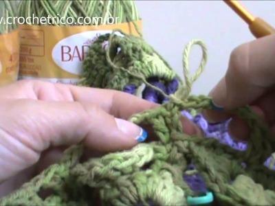 Crochê - Tapete Barroco em Ponto Escama - Parte 05.09