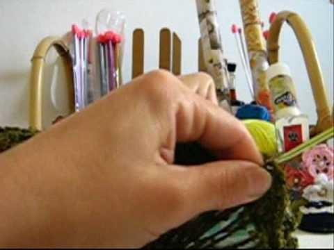 Crochê Tradicional - Bolsa de CDs Estruturada - Parte 12