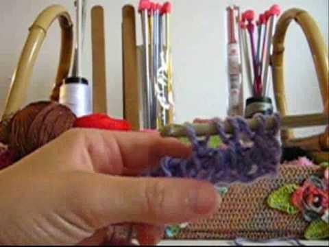Croche Tunisiano - Laçada Sobre Palito sem Fazer
