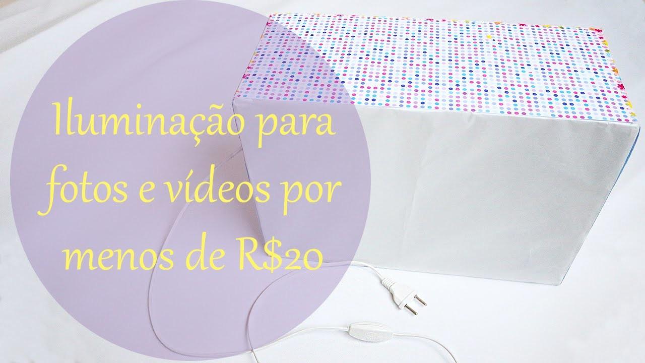 DIY: Iluminação para vídeos e fotos por menos de R$20 - Soft Box Caseira