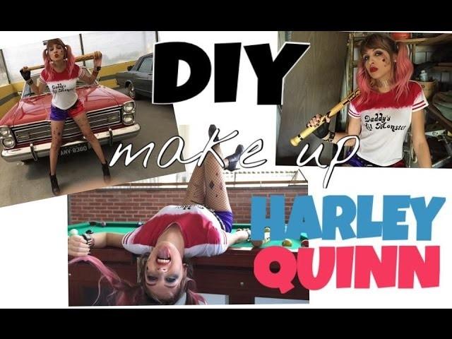 DIY | MAQUIAGEM Arlequina - Esquadrão Suicida (Harley Quinn Make Up) Parte: 02.02.