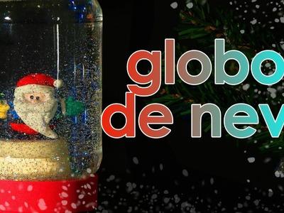 Globo de neve de Natal (globo de neve com glicerina e glitter) (artesanato)
