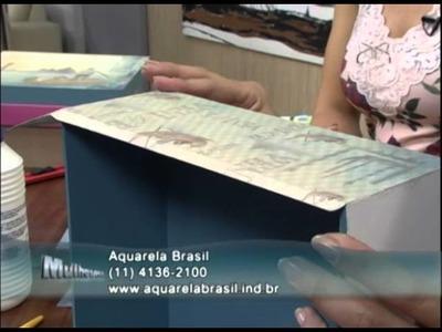Mulher.com 03.08.2012 Marisa Magalhães - Caixa com Scrapdecor 01