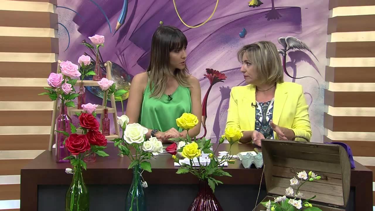 Mulher.com 26.08.2014 - Rosas de Biscuit por Alessandra Assi