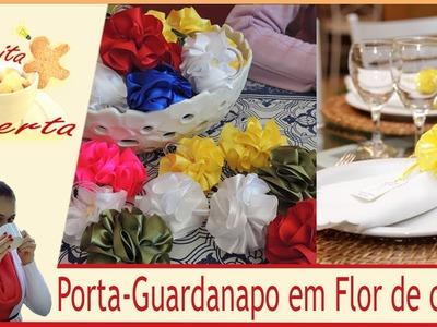 Porta Guardanapos de Flor