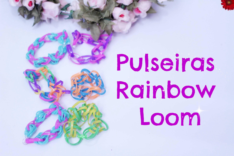 Pulseiras Rainbow Loom  para Criança Com Julia ♥