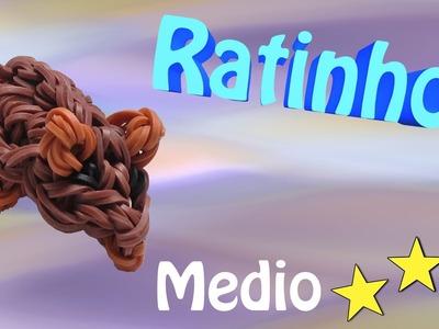 Rato de Elasticos loom bands 3D feito com tear