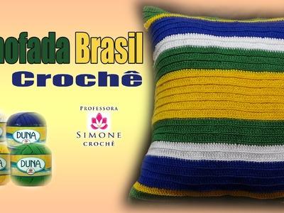 Almofada Crochê Duna Brasil - Professora Simone