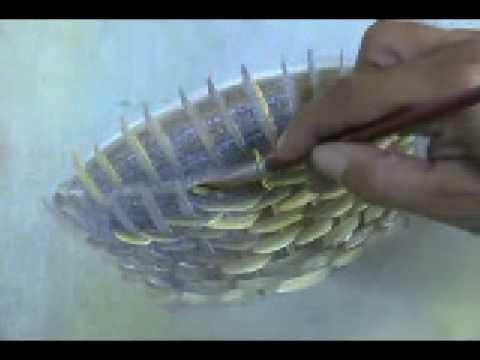 Aprenda a pintar uma cesta em menos de 5 minutos