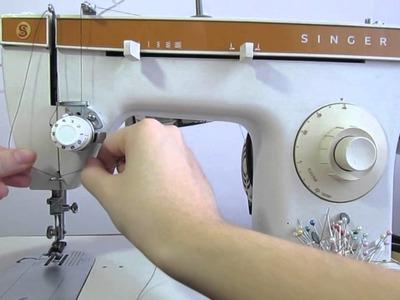 Aprendendo a mexer na maquina de costura - Como passar a linha