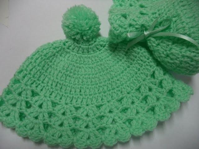 Como fazer - Gorro (Touca) em Crochê para Bebê - Fácil - Graça Tristão
