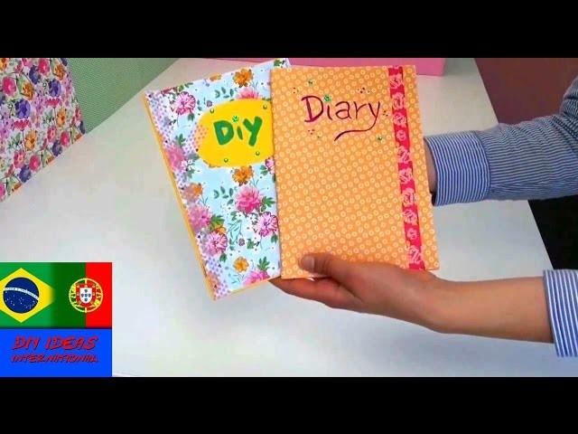 DIY como fazer caderno. diário. agenda DIY Notebook portuguesa | DIY