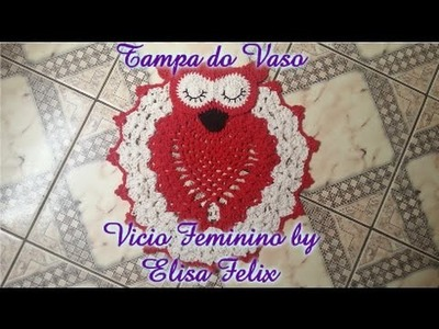 Jogo de banheiro coruja: Tampa do vaso (parte 1) Vício Feminino by Elisa Felix