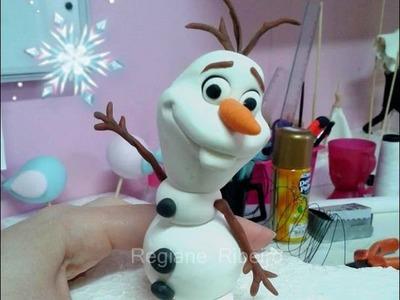 Tutorial OLAF ♡  modelagem boneco de neve em biscuit  - filme FROZEN