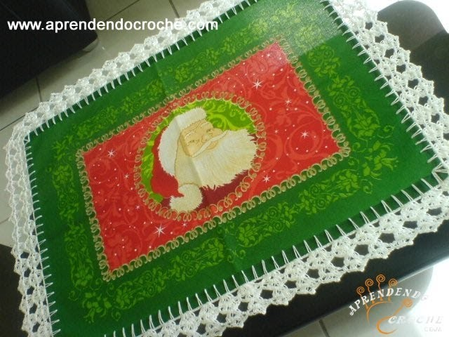 Barrado de Croche Festas de Natal - 1º Parte -  Aprendendo Crochê