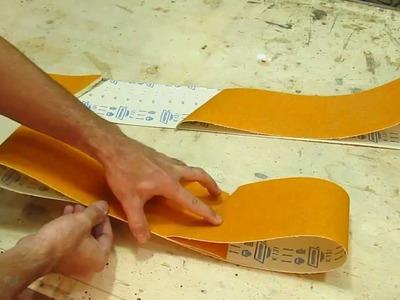 Como emendar lixa de cinta